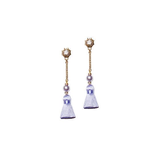 MAUREEN Swarovski Crystal Pearl Vintage Tassel Earrings