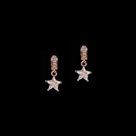 HESTER 24K Rose Gold Plating Zircon Drop Earrings