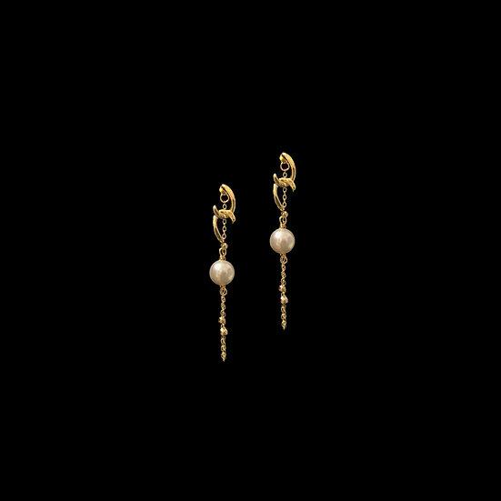 SAMANTHA Swarovski Crystal Pearl Hoop Earrings