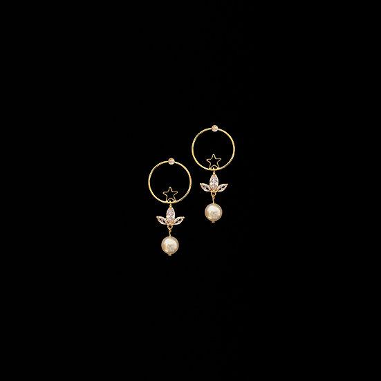 BODHI Zircon & Swarovski Crystal Pearl Drop Earrings