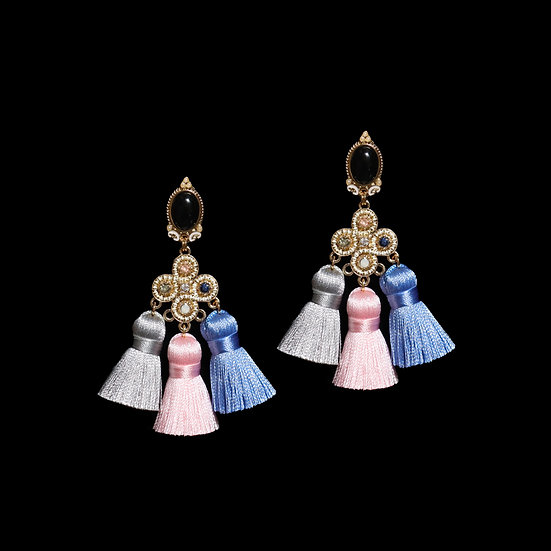 STEFANIA Vintage Tassel Earrings