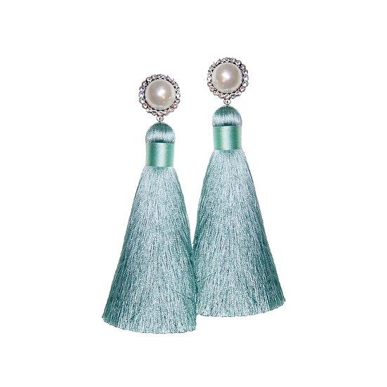 GERALDINE Pearl Vintage Tassel Earrings