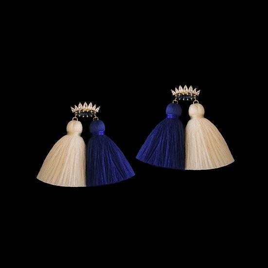 HARITI Zircon Tassel Earrings