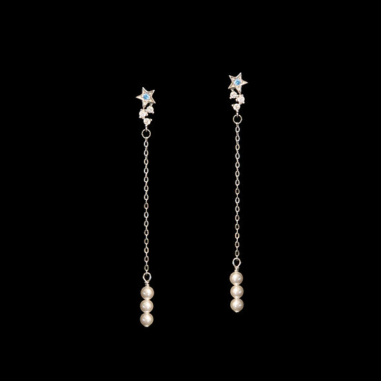 NORA Zircon & Swarovski Crystal Pearl Drop Earrings