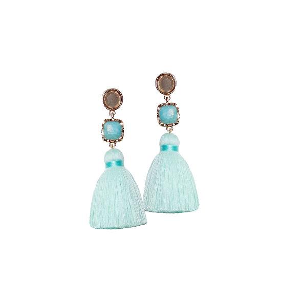 ETHEL Artificial Stone Vintage Tassel Earrings