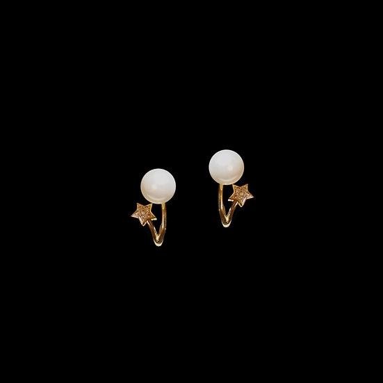BERTHA GOLD Zircon & Swarovski Crystal Pearl Earrings