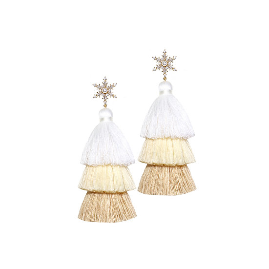 SAFIYA Zircon Tassel Earrings