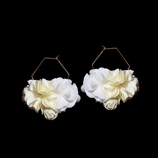 KATELYN Flower Hoop Earrings