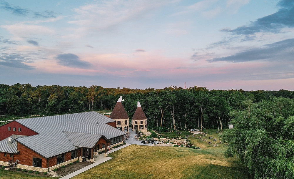 Twin Oast Brewing aerial view