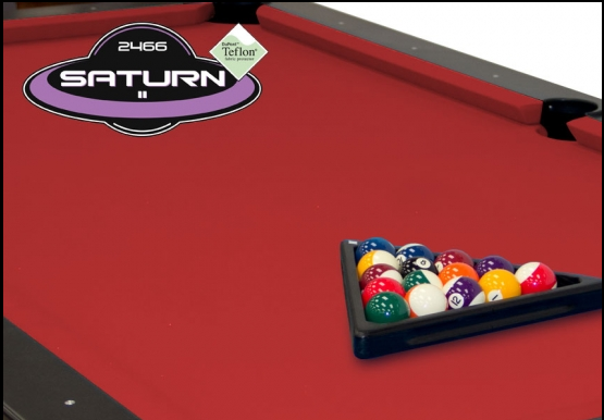 Red Championship Saturn Pool Table Cloth