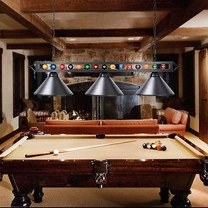 Billiard Table With Lighting Install.jpe