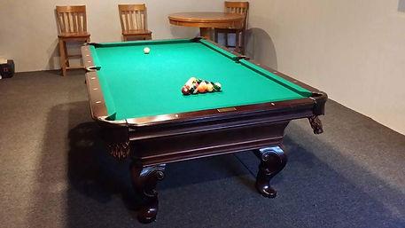 Billiard Pool Table with 8 Ball Rack