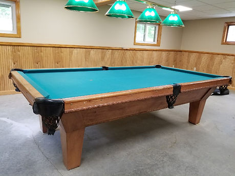Pool Table installed and refelted or reclothed by Maine Pool Table Service, Auburn Me. 207-240-1458