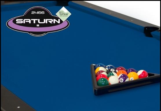 Euro Blue Championship Saturn Pool Table