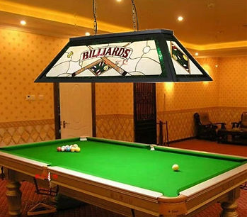 Billiard Table With Lighting Installed I
