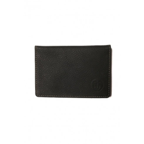 MOMENTO BIFOLD LEATHER WALLET BLACK