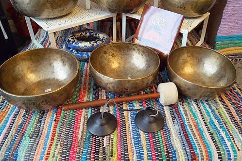 Full Moon Bowl (7) Chakra Therapy Set No.4