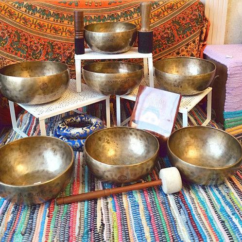Full Moon Bowl (7) Chakra Therapy Set No.1