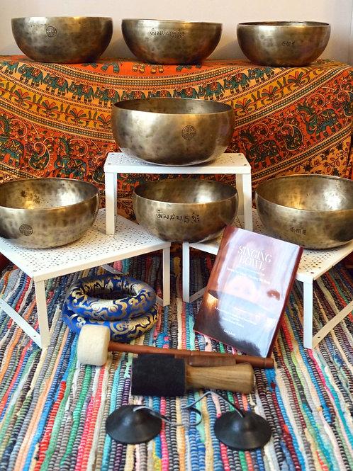 Full Moon Bowl (7) Chakra Therapy Set No.2