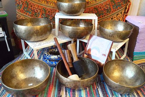 Full Moon Bowl (7) Chakra Therapy Set No.3