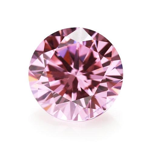 Pink Round Cubic Zirconia Loose Diamond Brilliant Cut AAAAA Grade