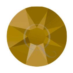 Flat Back Rhinestones - Metallic Gold