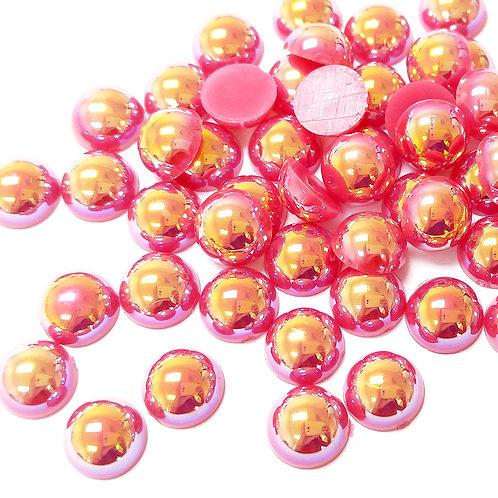 Rose AB Flat Back Pearls