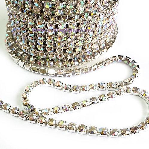 Rhinestones Trim Crystal AB Close Chain Banding