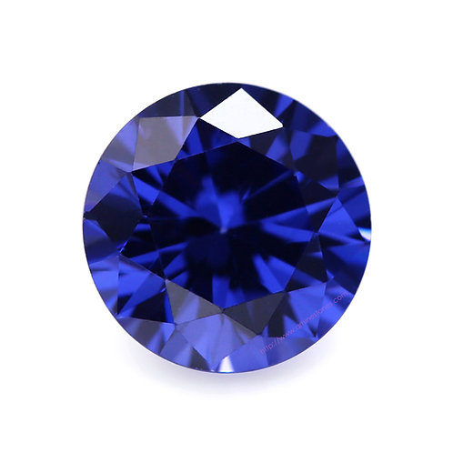 Sapphire Round Cubic Zirconia Loose Diamond Brilliant Cut AAAAA Grade