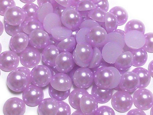 Light Purple Flat Back Pearls