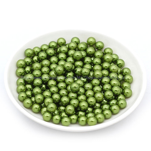 Vase Filler Pearls Olive Green 6mm / 8mm