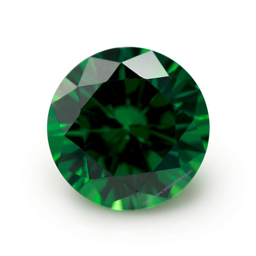 Emerald Round Cubic Zirconia Loose Diamond Brilliant Cut AAAAA Grade