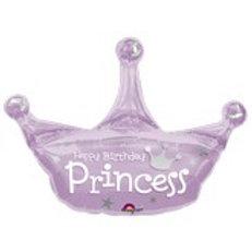 Balloon Super Shape Happy Birthday Princess Tiara