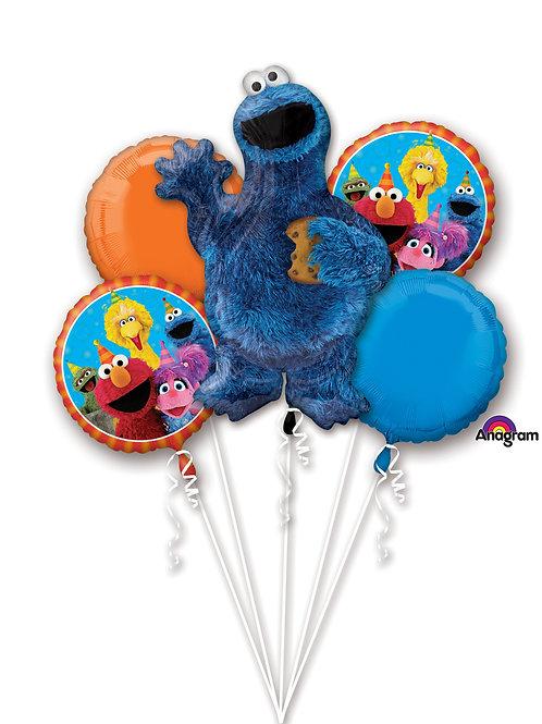 Balloon Bouquet Sesame St Cookie Monster