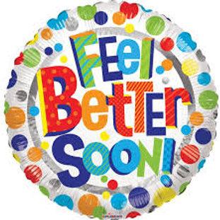 Foil Balloon Feel Better Soon Dots