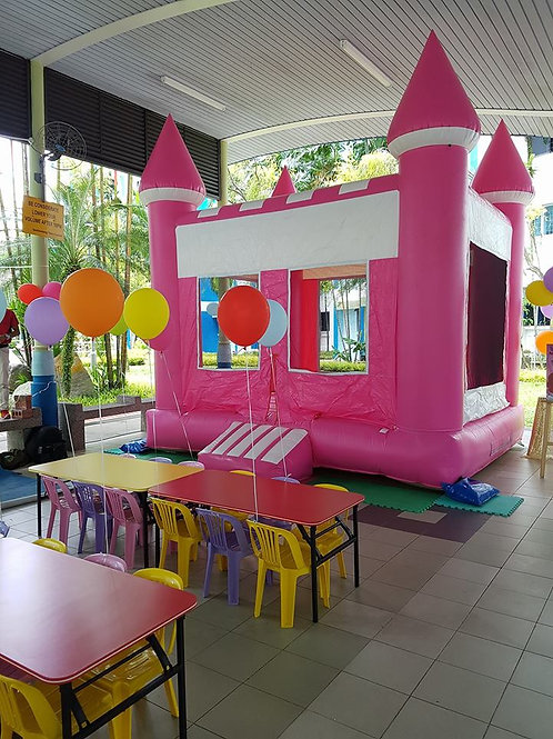 Bouncy Castle - Pink Princess Castle