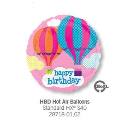 Foil Balloon Hot Air Balloon HBD