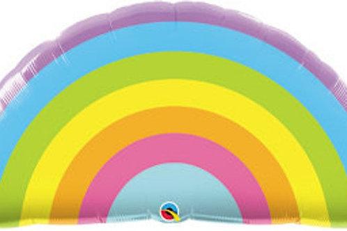 Balloon Super Shape Pastel Rainbow