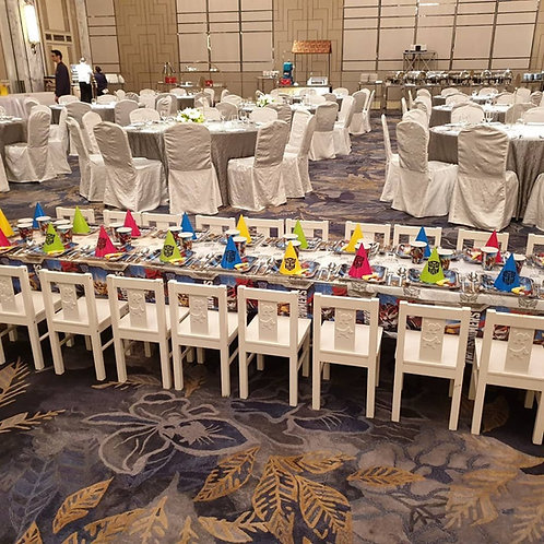 Rental Kids White Tables & Chairs