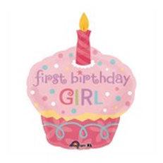 Balloon Super Shape 1st Cupcake Girl