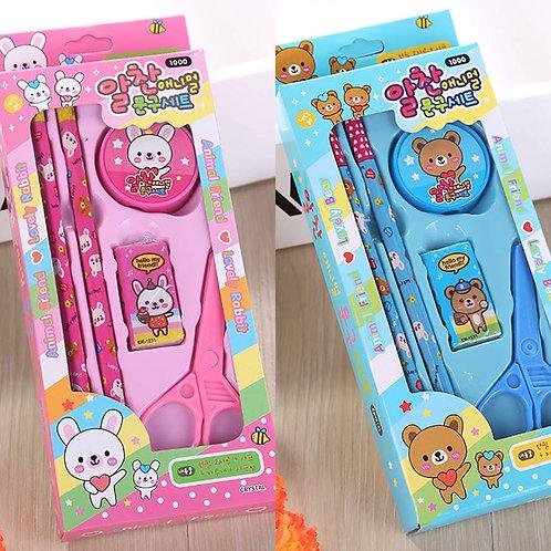 Stationery Bear Pink Set