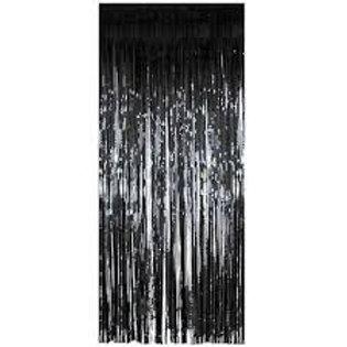 Metallic Foil Curtain 2m x 1m BLACK