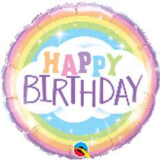 Foil Balloon -Rainbow Sky HBD
