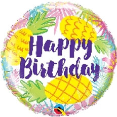 Foil Balloon -Yellow Pineapple HBD