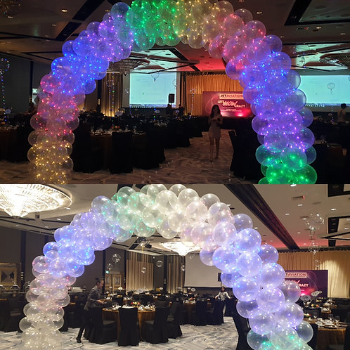 Led Light Glowing Balloon Arch