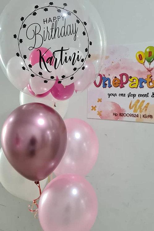 Bubble Name Balloon Elegant