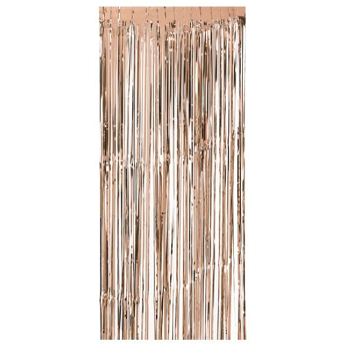 Metallic Foil Curtain 3m x 1m ROSE GOLD