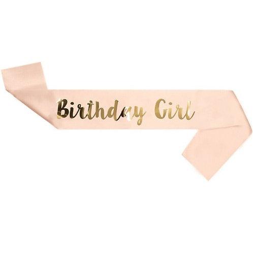 Birthday Sash Girl
