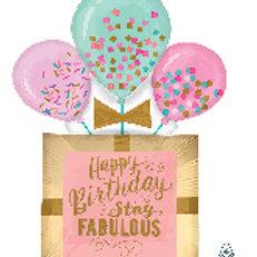 Balloon Super Shape Happy Birthday Fabulous
