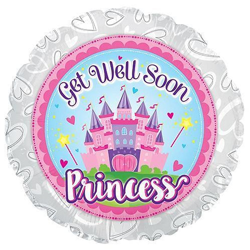 Foil Balloon Get Well Princess